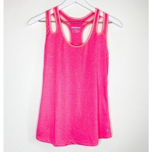 Layer 8 Performance Pink Racerback Tank Top Small